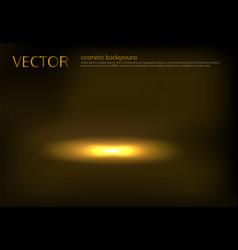 A golden spot lit vector