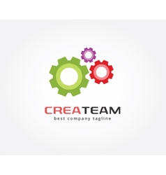 Abstract gear logo icon concept Logotype template vector image vector image
