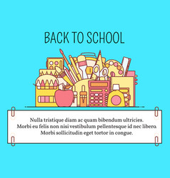 back to school concept in flat vector image vector image