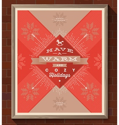 Christmas greeting type design vector image