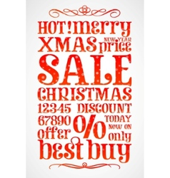 christmas sale template vector image vector image