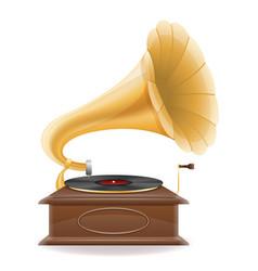 gramophone old retro vintage icon stock vector image