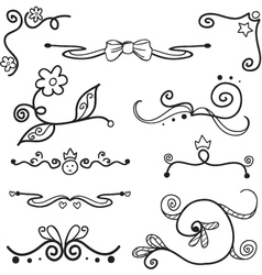 hand drawn swirls vector image