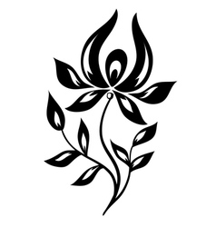 isolated black and white flower vector image
