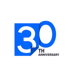 30 th anniversary celebration your company vector