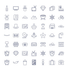 49 vintage icons vector