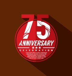 75 Years Anniversary Celebration Design vector image