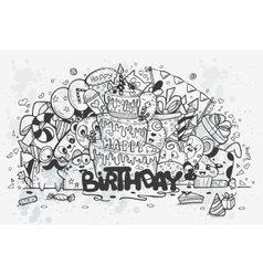 a hand drawn doodles vector image