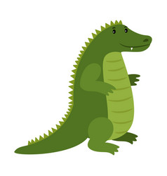 Alligator happy cartoon crocodile mascot vector
