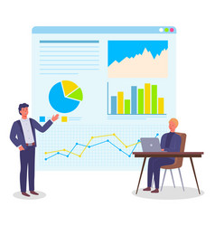 Analysing project businesspeople office workers vector