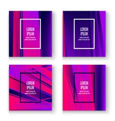 artistic cover set design neon blurred pink vector image