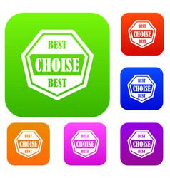Best choise label set collection vector