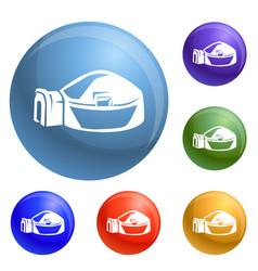Big igloo icons set vector