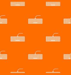 black computer keyboard pattern seamless vector image
