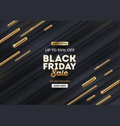 black friday sale design with golden elements vector image