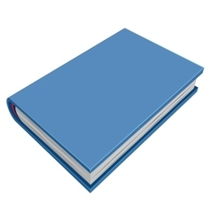 Blue closed hardcover book Three-dimensional book vector image