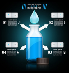 Bottle water infographics vector