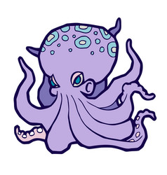 bright colored octopus vector image
