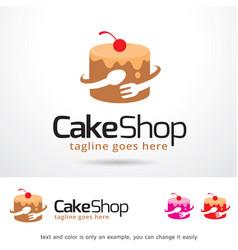 cake shop logo template vector image