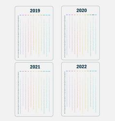 calendar 2019 calendar 2020 calendar 2021 and vector image