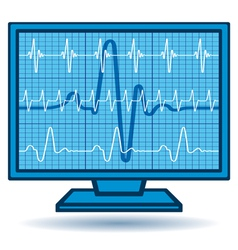 Cardiogram monitor vector image