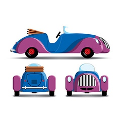 Cartoon purple car vector image