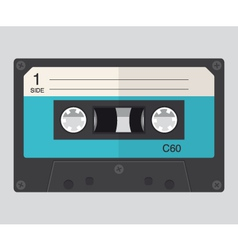 Cassette audio flat design vector