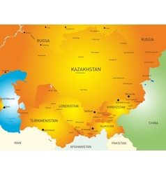 Central Asia vector