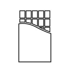 chocolate bar black color icon vector image