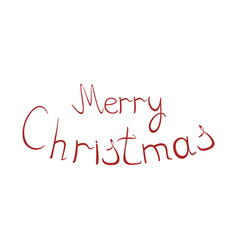 christmas lettering on a white background vector image
