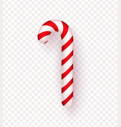 christmas realistic candy cane isolated vector image