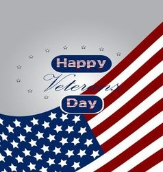 Colored background with text for veterans day vector