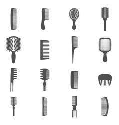 Comb Icons Set vector image