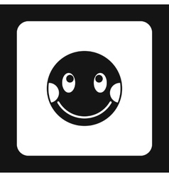 Confused emoticon icon simple style vector