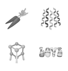 Cooking service and other monochrome icon in vector