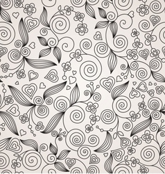 Decorative flower seamless background vector image