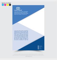design of business brochure leaflet flyer poster vector image