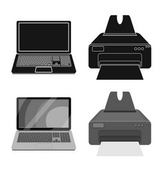 Design of laptop and device symbol vector