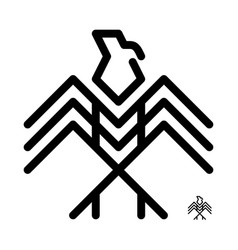 eagle logo decorative vector image