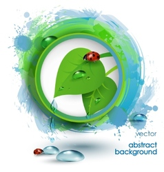 Eco banner with drops of pure water and green vector