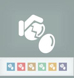 Eggs break vector