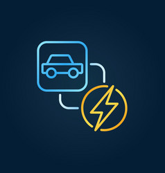 electric car and lightning concept creative vector image