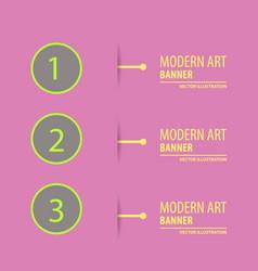 Elements of infographics in modert art style vector