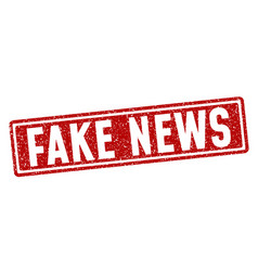 Fake news grunge stamp vector