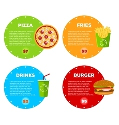 Fast Food Cafe Menu vector image