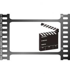 film strip clapper vector image vector image