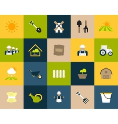 Flat icons set 26 vector