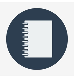 Flat style icon notebook Education and science vector image