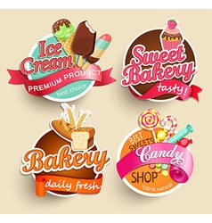 Food Labels and Stickers vector image