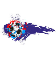 Football soccer ball russian flag sports game vector
